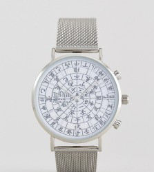 Reclaimed Vintage Inspired Ancient Date Mesh Watch In Silver Exclusive To ASOS - Silver