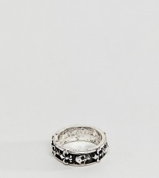 Reclaimed Vintage Inspired Band Ring With Skull Exclusive To ASOS - Silver
