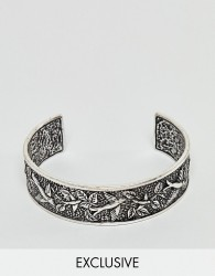 Reclaimed Vintage inspired bangle with emboss in silver exclusive at ASOS - Silver