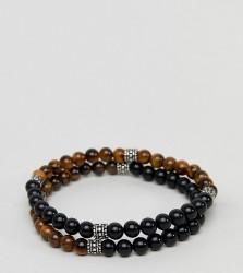 Reclaimed Vintage Inspired Beaded Bracelet In 2 Pack Exclusive To ASOS - Multi