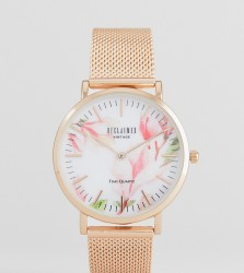 Reclaimed Vintage Inspired Bloom Mesh Watch In Rose Gold 36mm Exclusive to ASOS - Gold