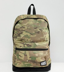 Reclaimed Vintage inspired camo backpack - Green