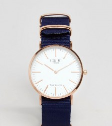 Reclaimed Vintage Inspired Canvas Watch In Blue 36mm Exclusive to ASOS - Blue