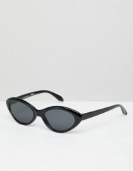 Reclaimed Vintage Inspired Cat Eye Sunglasses In Black - Black