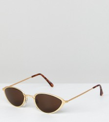 Reclaimed Vintage Inspired Cat Eye Sunglasses In Black With Yellow Lens Exclusive To ASOS - Black