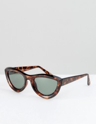 Reclaimed Vintage Inspired Cat Eye Sunglasses In Tort - Brown