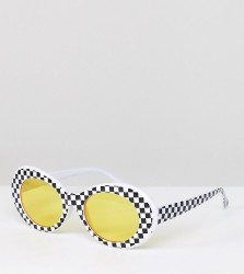Reclaimed Vintage Inspired Cat Eye Sunglasses In White With Yellow Lens Exclusive To ASOS - White