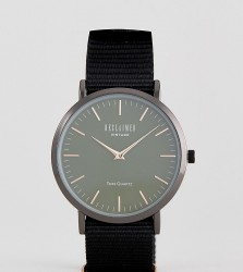 Reclaimed Vintage Inspired Chronograph Canvas Watch In Green Exclusive To ASOS - Green