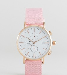Reclaimed Vintage Inspired Chronograph Canvas Watch In Pink 36mm Exclusive to ASOS - Pink