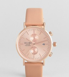 Reclaimed Vintage Inspired Chronograph Leather Watch In Tan 36mm Exclusive to ASOS - Tan