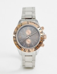 Reclaimed Vintage Inspired Chronograph Mixed Bracelet Watch In Silver Exclusive To ASOS - Gold