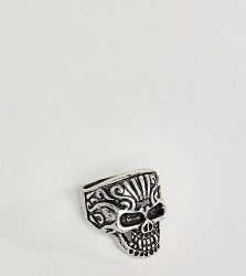 Reclaimed Vintage Inspired Chunky Skull Ring Exclusive To ASOS - Silver