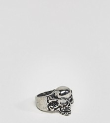 Reclaimed Vintage Inspired Chunky Skull Ring In Silver Exclusive To ASOS - Silver