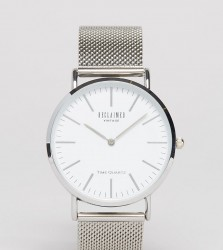 Reclaimed Vintage Inspired Classic Mesh Strap Watch In Silver Exclusive to ASOS - Gold