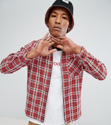 Reclaimed Vintage Inspired Coach Jacket In Red Tartan - Red