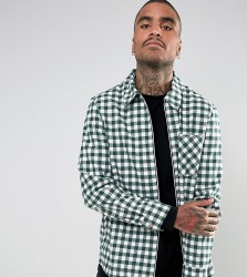 Reclaimed Vintage Inspired Coach Shirt In Check - Green