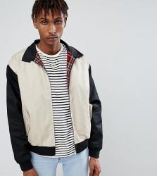 Reclaimed Vintage Inspired Cut and Sew Harrington Jacket - Black