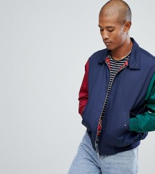 Reclaimed Vintage Inspired Cut and Sew Harrington Jacket - Navy