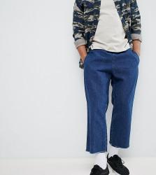Reclaimed Vintage inspired denim relaxed trouser - Blue