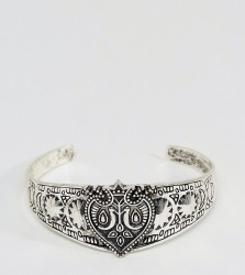 Reclaimed Vintage Inspired Engraved Bangle In Silver Exclusive To ASOS - Silver