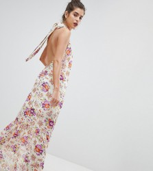 Reclaimed Vintage Inspired High Neck Floral Maxi Dress - Multi