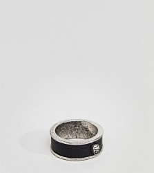 Reclaimed Vintage Inspired Leather Skull Band Ring Exclusive To ASOS - Black