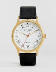 Reclaimed Vintage Inspired Leather Watch In Black Exclusive to ASOS - Black