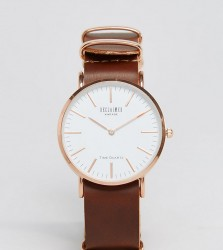 Reclaimed Vintage Inspired Leather Watch In Brown 36mm Exclusive to ASOS - Brown
