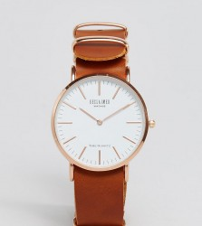Reclaimed Vintage Inspired Leather Watch In Tan 36mm Exclusive to ASOS - Tan