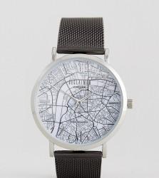 Reclaimed Vintage Inspired London Map Mesh Watch In Black Exclusive To ASOS - Black