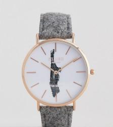 Reclaimed Vintage Inspired Manhattan Wool Watch In Grey Exclusive To ASOS - Grey
