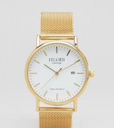 Reclaimed Vintage Inspired Mesh Strap Watch In Gold Exclusive to ASOS - Gold