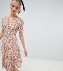 Reclaimed Vintage inspired midi dress in floral print - Multi