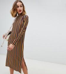 Reclaimed Vintage inspired midi dress in stripe print - Multi