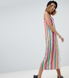 Reclaimed Vintage Inspired mixed stripe and star print slip dress - Multi