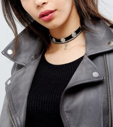Reclaimed Vintage Inspired Multilayer Western Chokers - Silver