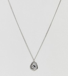 Reclaimed Vintage inspired necklace with pendant exclusive at ASOS - Silver