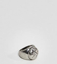 Reclaimed Vintage Inspired Oval Signet Ring In Silver Exclusive To ASOS - Silver