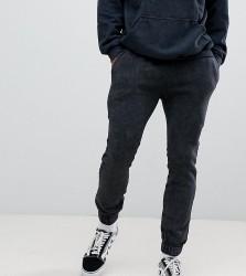 Reclaimed Vintage inspired overdye jogger in washed black - Black