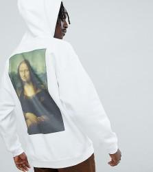 Reclaimed Vintage inspired oversized Da Vinci hoodie in white - White