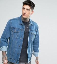 Reclaimed Vintage Inspired Oversized Denim Jacket In Blue - Blue