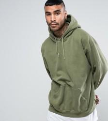 Reclaimed Vintage Inspired Oversized Hoodie In Green Overdye - Green