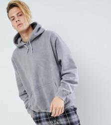 Reclaimed Vintage inspired oversized overdye hoodie in charcoal - Grey