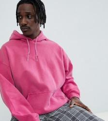 Reclaimed Vintage inspired oversized overdye hoodie in pink - Pink
