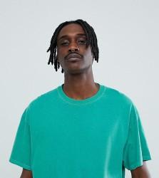 Reclaimed Vintage inspired oversized overdye t-shirt in green - Green