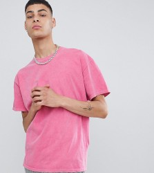 Reclaimed Vintage inspired oversized overdye t-shirt in pink - Pink