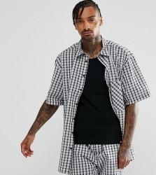 Reclaimed Vintage Inspired Oversized Shirt In Check - Black