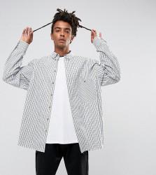 Reclaimed Vintage Inspired Oversized Shirt In Check - White
