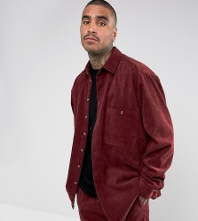 Reclaimed Vintage Inspired Oversized Shirt In Cord - Red