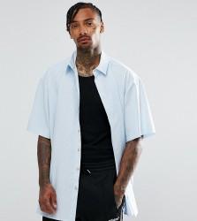 Reclaimed Vintage Inspired Oversized Shirt In Stripe - Blue